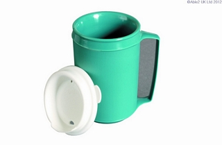 Insulated Mug with Lid Eating & Drinking Assistance > Beakers & Cups