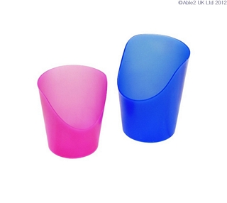 Flexi 30ml Cut Cup Pack of 5 - Pink Eating & Drinking Assistance > Beakers & Cups