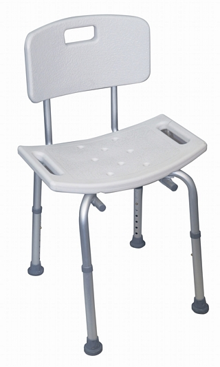 Adjustable Height Shower Stool with Back Around the Home > Bath & Shower Seats