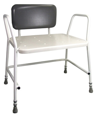 Portland Bariatric Height Adjustable Shower Stool with Padded Back Support Around the Home > Bath & Shower Seats