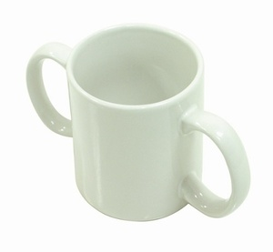 Two Handled Ceramic Mug Eating & Drinking Assistance > Beakers & Cups