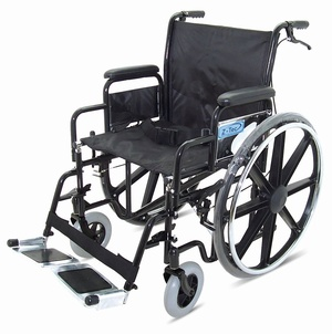 Folding Heavy Duty Extra Wide Steel Wheelchair Wheelchairs > Self Propelled & Transit