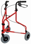 Steel Tri Walker with Basket & Vinyl Bag