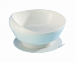 Suction Base Scoop Bowl - White