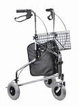 Chrome Tri Walker with Positive Folding Lock with Bag & Basket