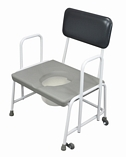 Dorset Devon and Suffolk Bariatric Commodes - Fixed Arms