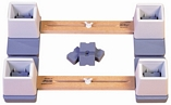 Adjustable Height and Width Linked Bed Raiser - 2 Widths
