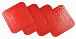 Tenura Anti Slip Silicone Rubber Square Coaster (Pack of 4) - 3 Colours
