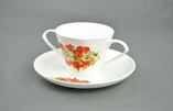 Two Handled China Cup & Saucer
