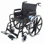 Folding Heavy Duty Extra Wide Steel Wheelchair